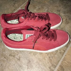 brand new , red puma sneakers